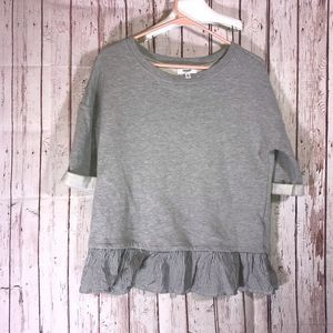 Kensie Jeans Gray Sweater Size Small 3/4 Sleeves